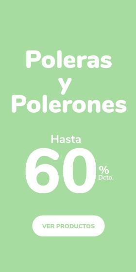 Poleras y Polerones hasta 60%